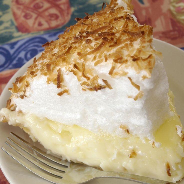 Coconut Cream Pie With Meringue  The perfect recipe for old fashioned coconut cream pie