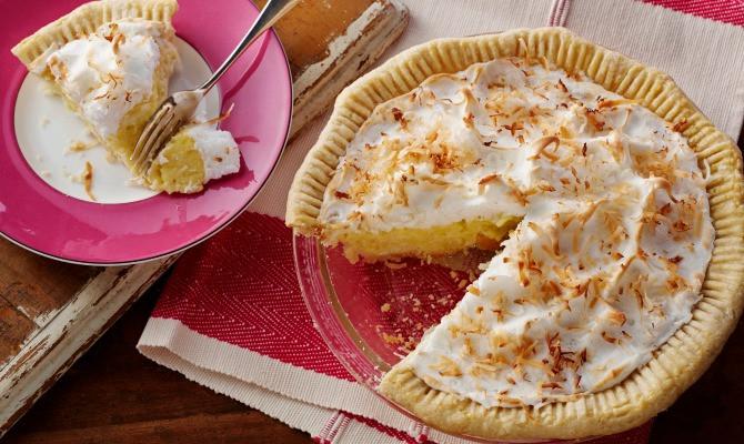Coconut Cream Pie With Meringue  Coconut Cream Pie With Coconut Meringue Recipe by American