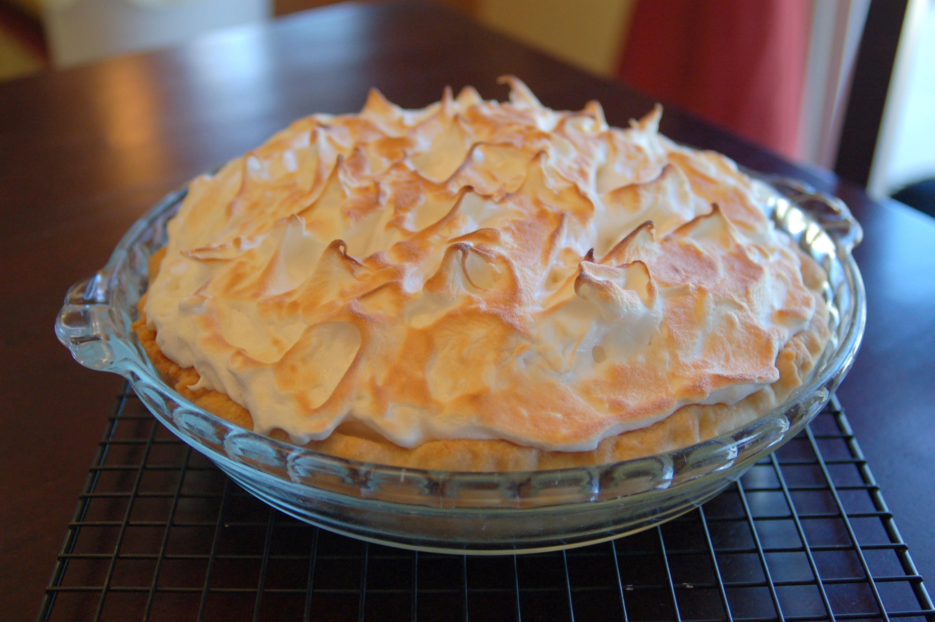 Coconut Cream Pie With Meringue  coconut cream pie meringue topping