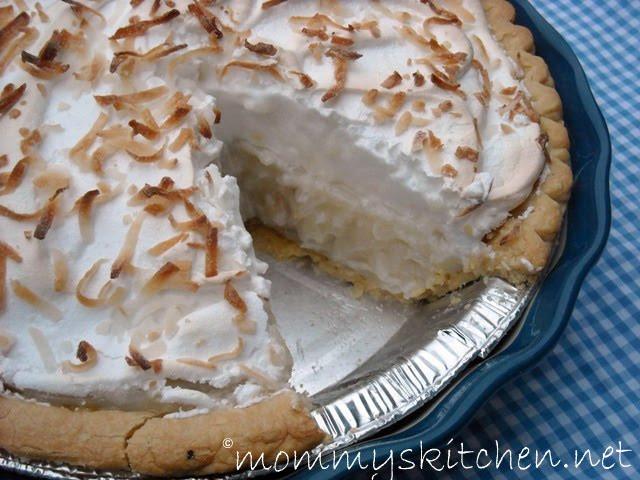 Coconut Cream Pie With Meringue  easy coconut meringue pie