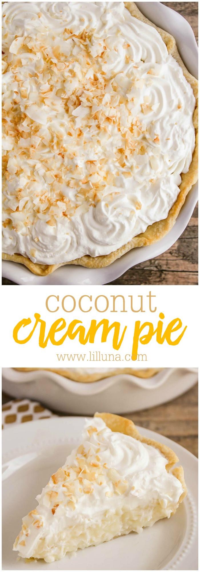 Coconut Cream Pie With Pudding  Coconut Cream Pie