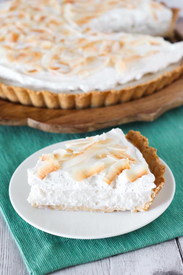 Coconut Cream Pie With Pudding  gluten free vegan coconut cream pie Sarah Bakes Gluten Free