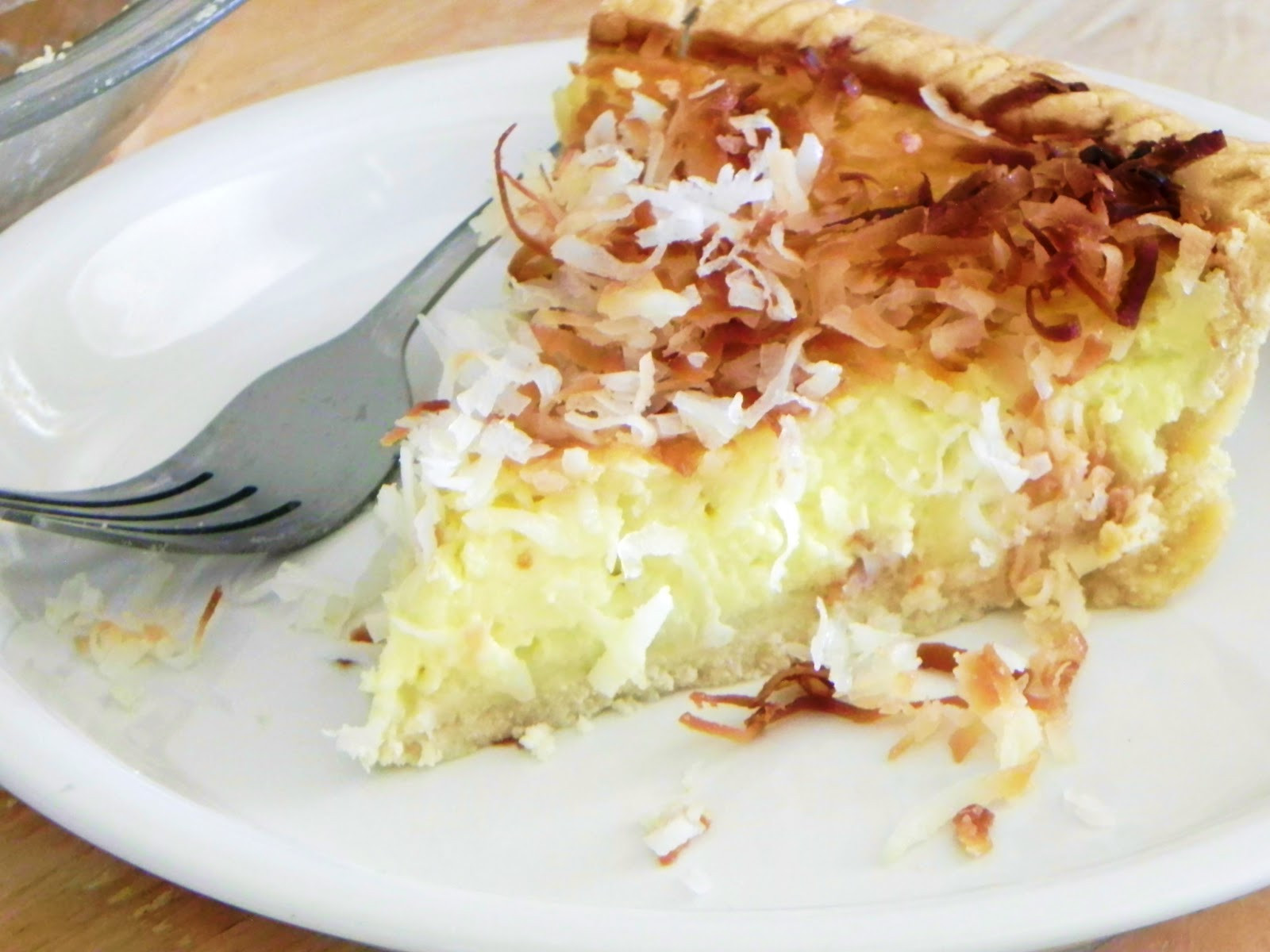 Coconut Custard Pie Recipe  beyond foods COCONUT CUSTARD PIE