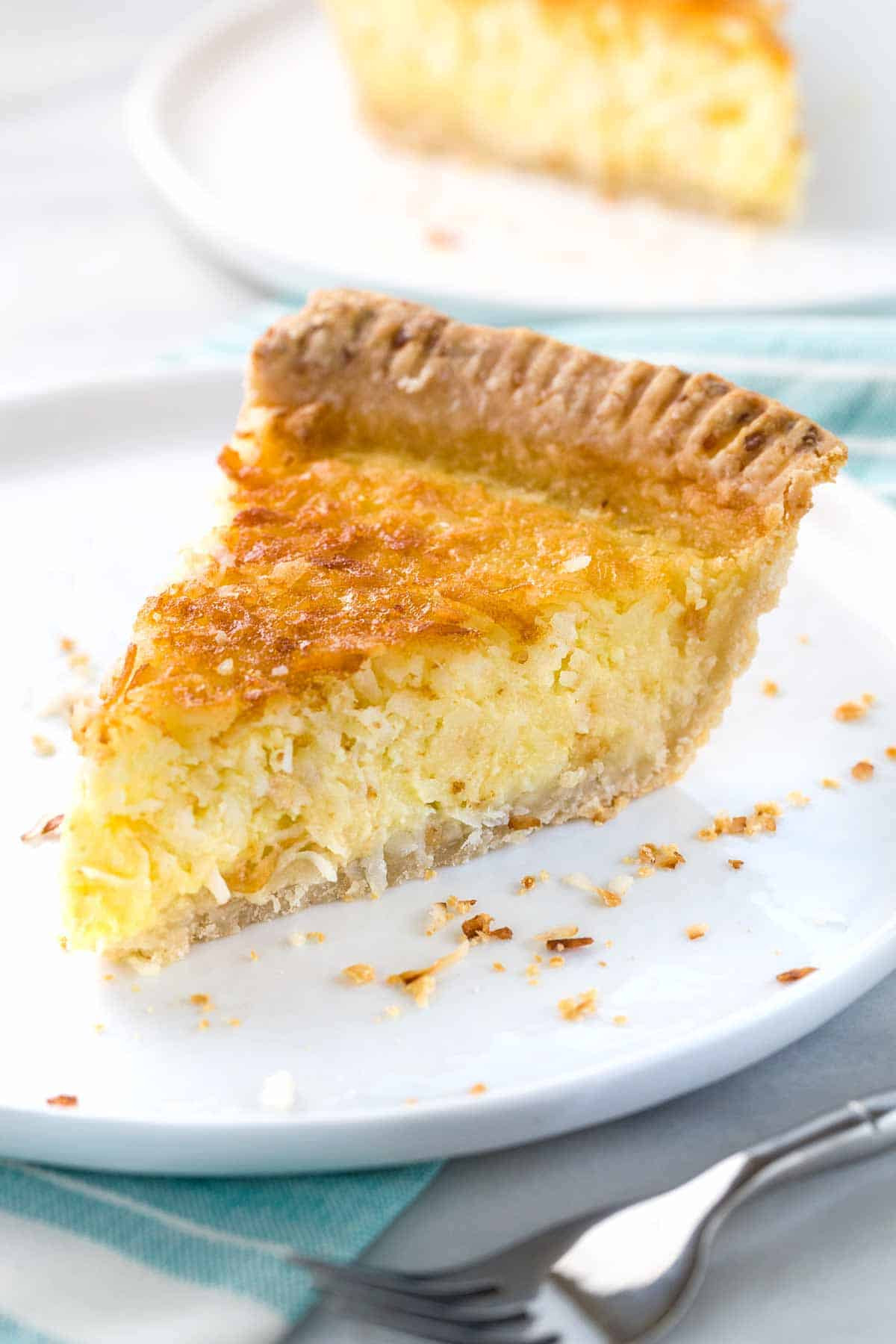 Coconut Custard Pie Recipe  Coconut Custard Pie Recipe Jessica Gavin