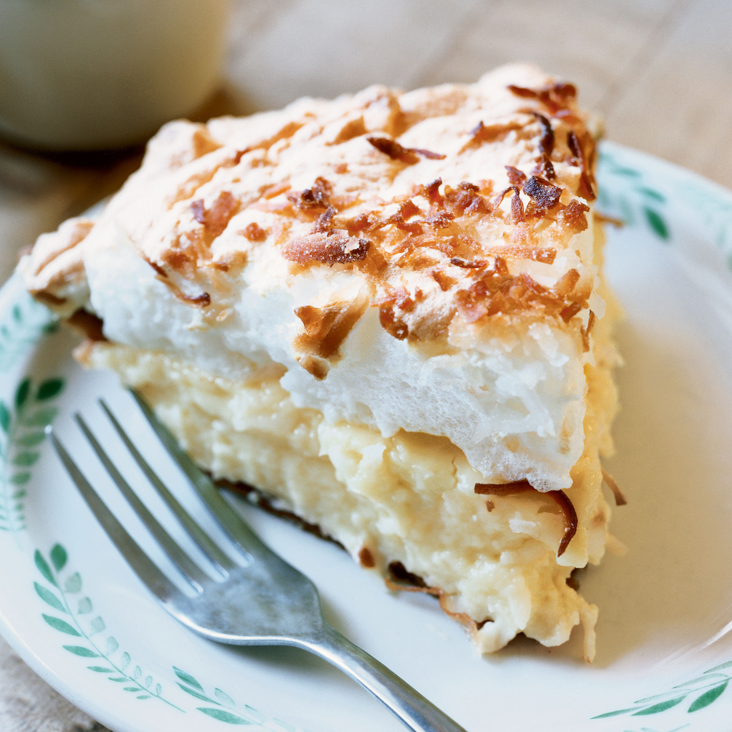 Coconut Custard Pie Recipe  Coconut Custard Meringue Pie Recipe Grace Parisi