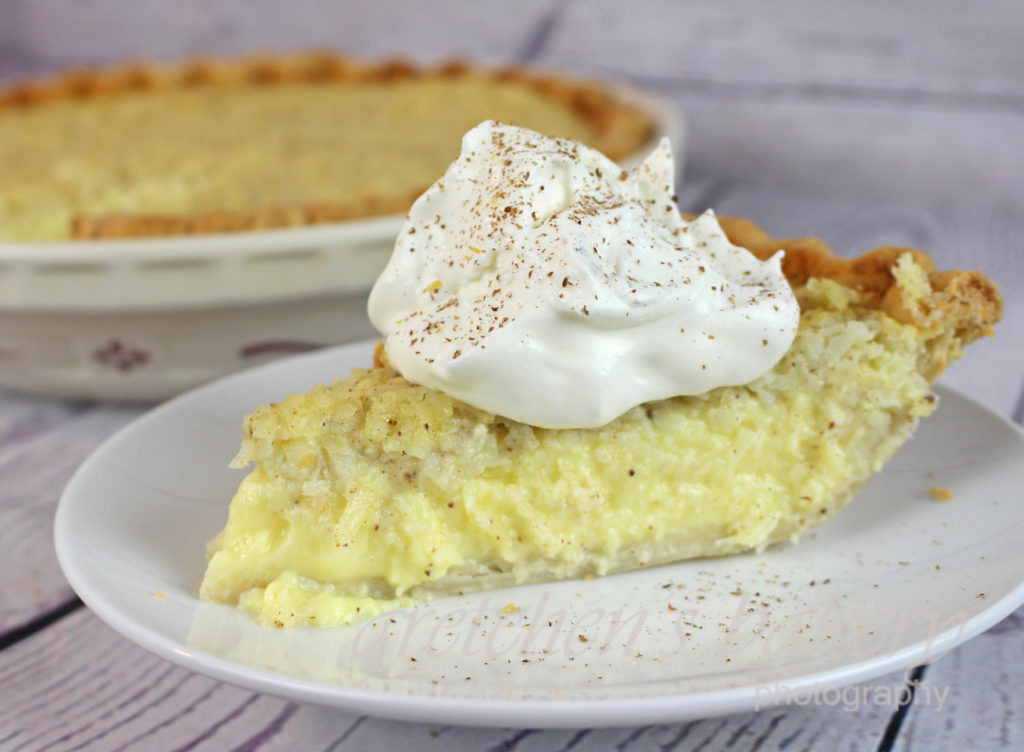 Coconut Custard Pie Recipe  Coconut Custard Pie Recipe Gretchen s Bakery
