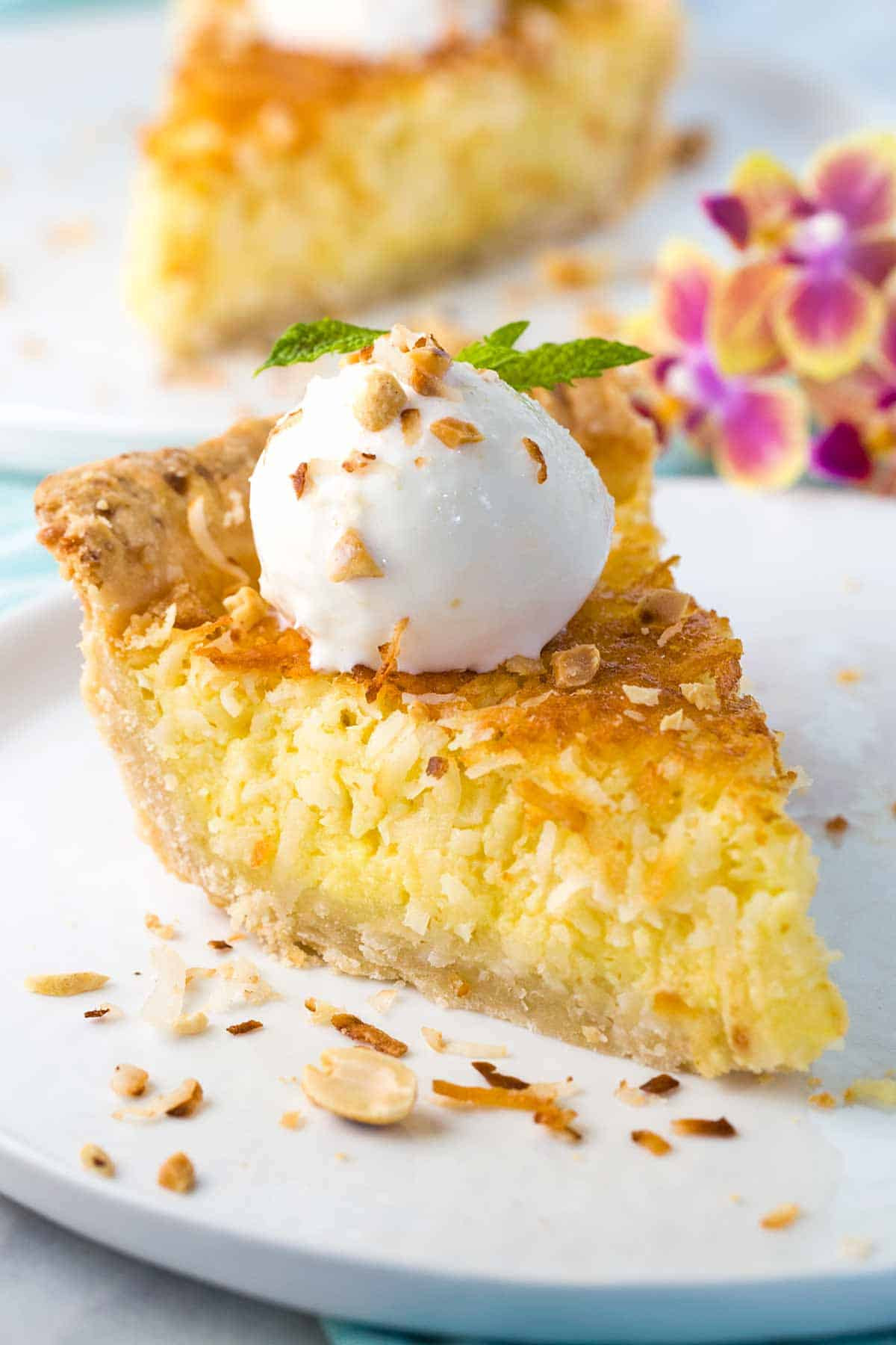 Coconut Custard Pie Recipe  Coconut Custard Pie Recipe Jessica Gavin