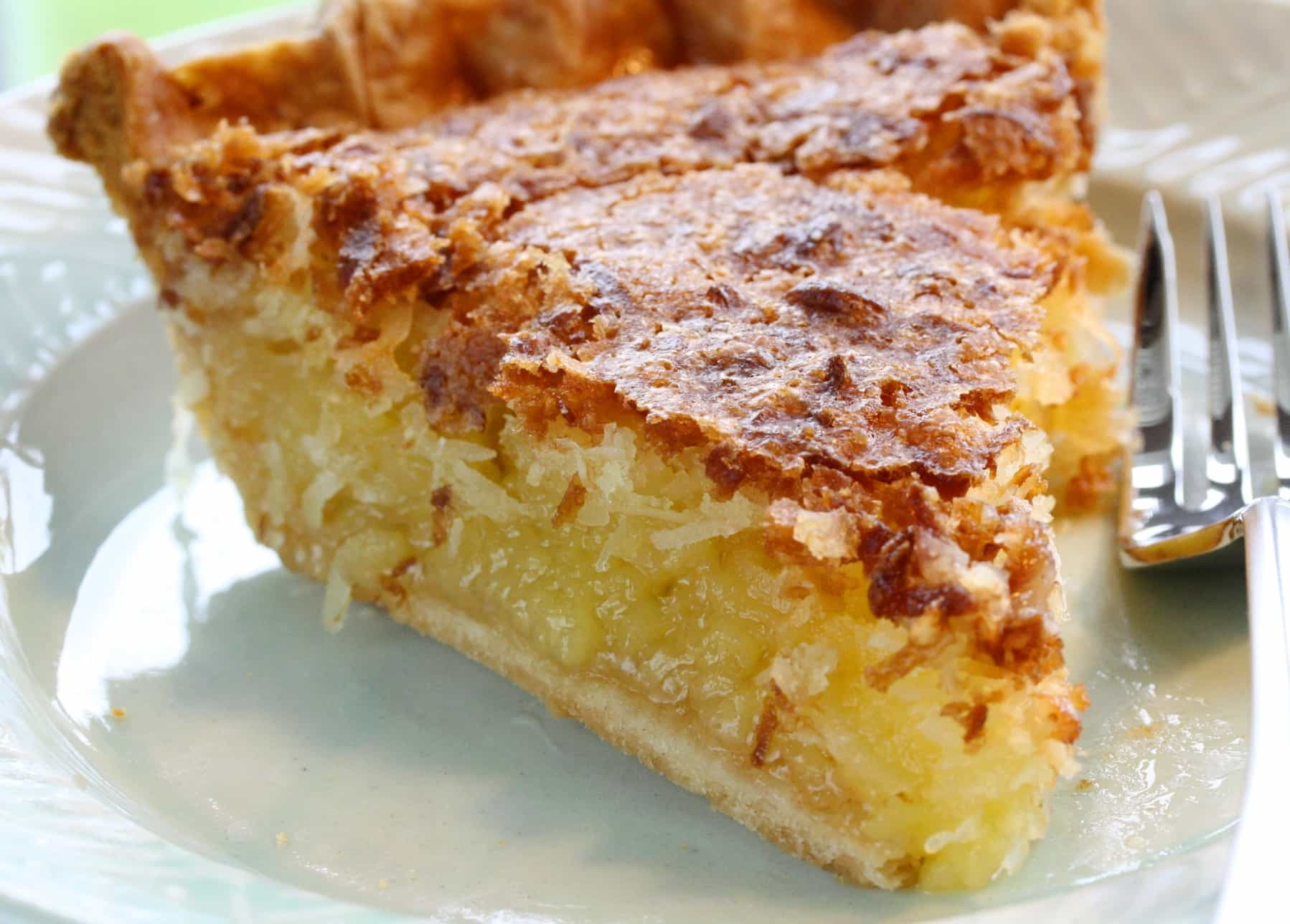 Coconut Custard Pie Recipe  Pie No 18 French Coconut Pie Saving Room for Dessert