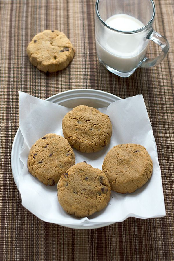 Coconut Flour Chocolate Chip Cookies  Chewy Coconut Flour Chocolate Chip Cookies