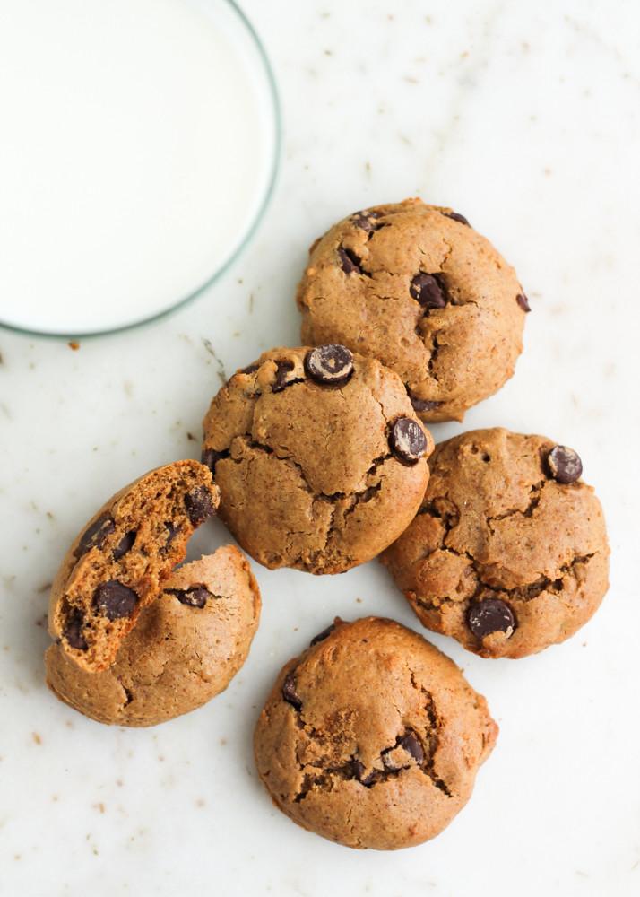 Coconut Flour Chocolate Chip Cookies  Paleo Coconut Flour Chocolate Chip Cookies