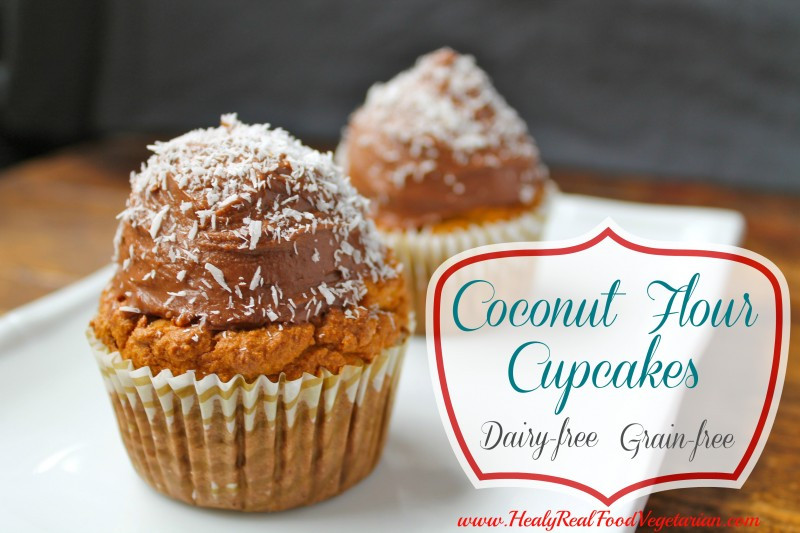 Coconut Flour Cupcakes  Coconut Flour Cupcakes with Chocolate Frosting grain free