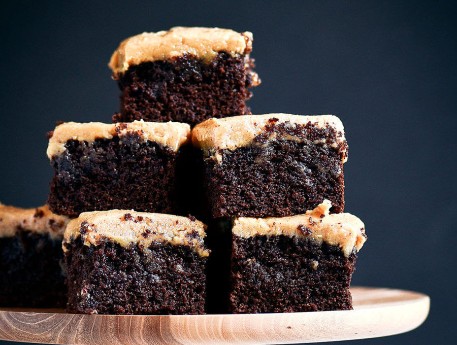 Coconut Flour Desserts  Best Coconut Flour Brownies and Peanut Butter Frosting