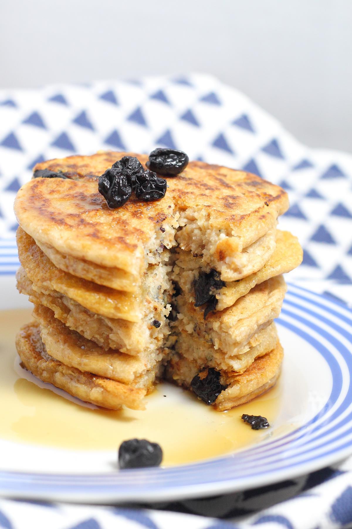 Coconut Flour Pancakes Vegan  Blueberry Coconut Flour Pancakes