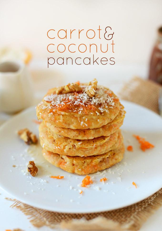 Coconut Flour Pancakes Vegan  Vegan Carrot Coconut Pancakes