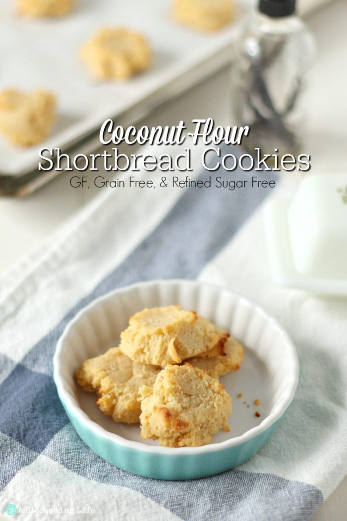 Coconut Flour Shortbread Cookies  Coconut Flour Shortbread Cookies Grain Gluten and
