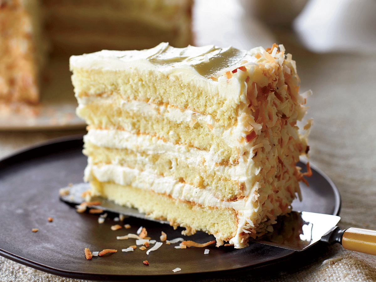 Coconut Layer Cake  Towering Coconut Layer Cake Recipe Tyler Florence