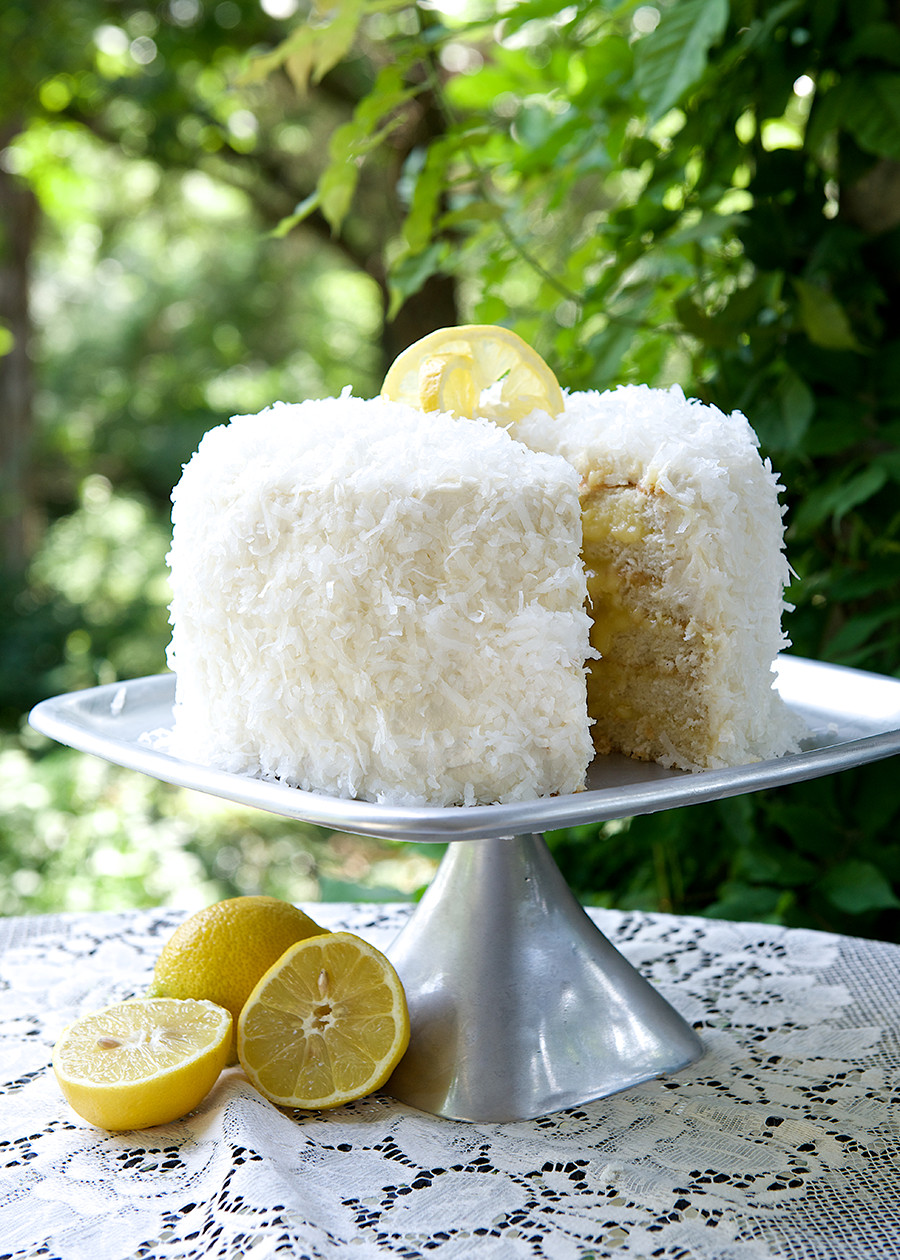 Coconut Layer Cake  Coconut Layer Cake with Lemon Filling Cake Mix Doctor