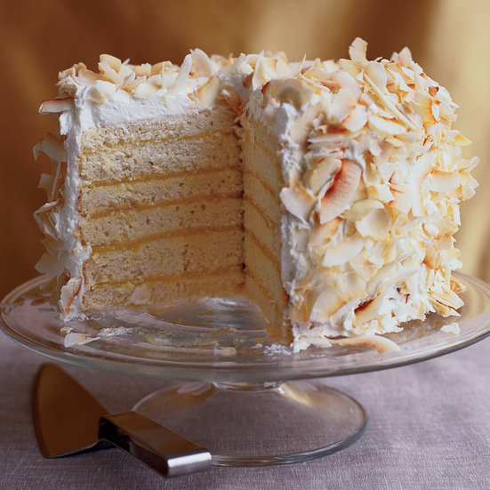 Coconut Layer Cake  Six Layer Coconut Cake with Passion Fruit Filling Recipe