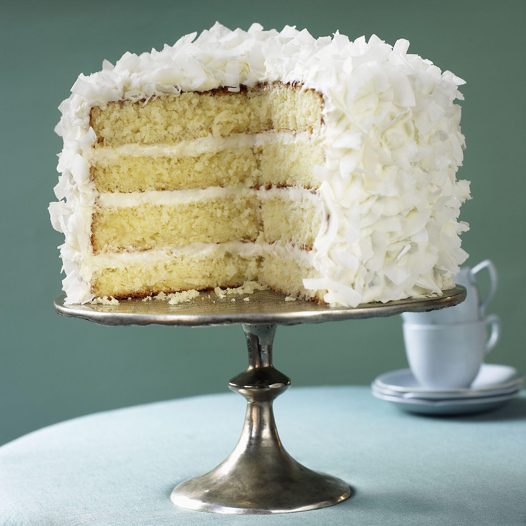 Coconut Layer Cake  Fresh Coconut Layer Cake Recipe