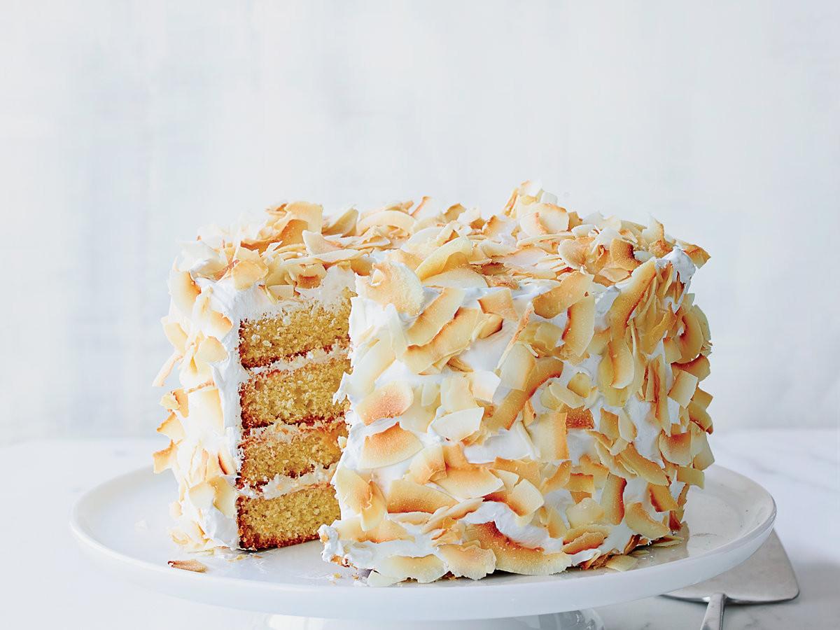 Coconut Layer Cake  Four Layer Coconut Cake Recipe Michelle Polzine
