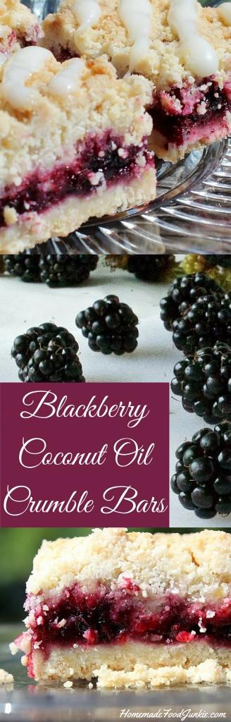 Coconut Oil Desserts  Blackberry Coconut Oil Crumble Bars are a Good N Easy