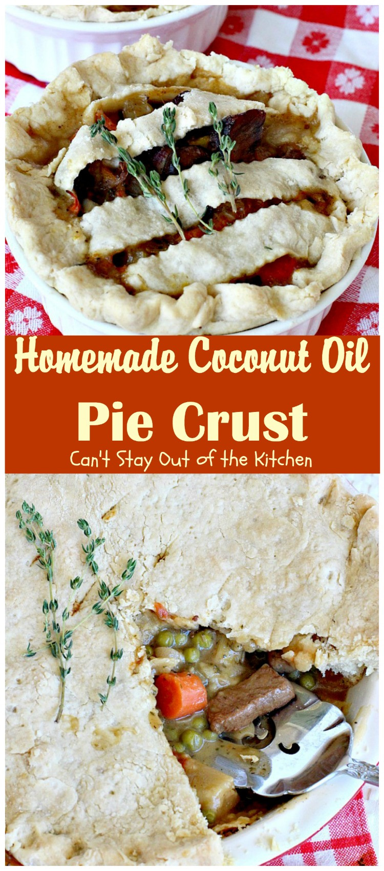 Coconut Oil Pie Crust  Homemade Coconut Oil Pie Crust Can t Stay Out of the Kitchen