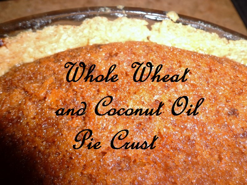 Coconut Oil Pie Crust  Whole Wheat and Coconut Oil Pie Crust