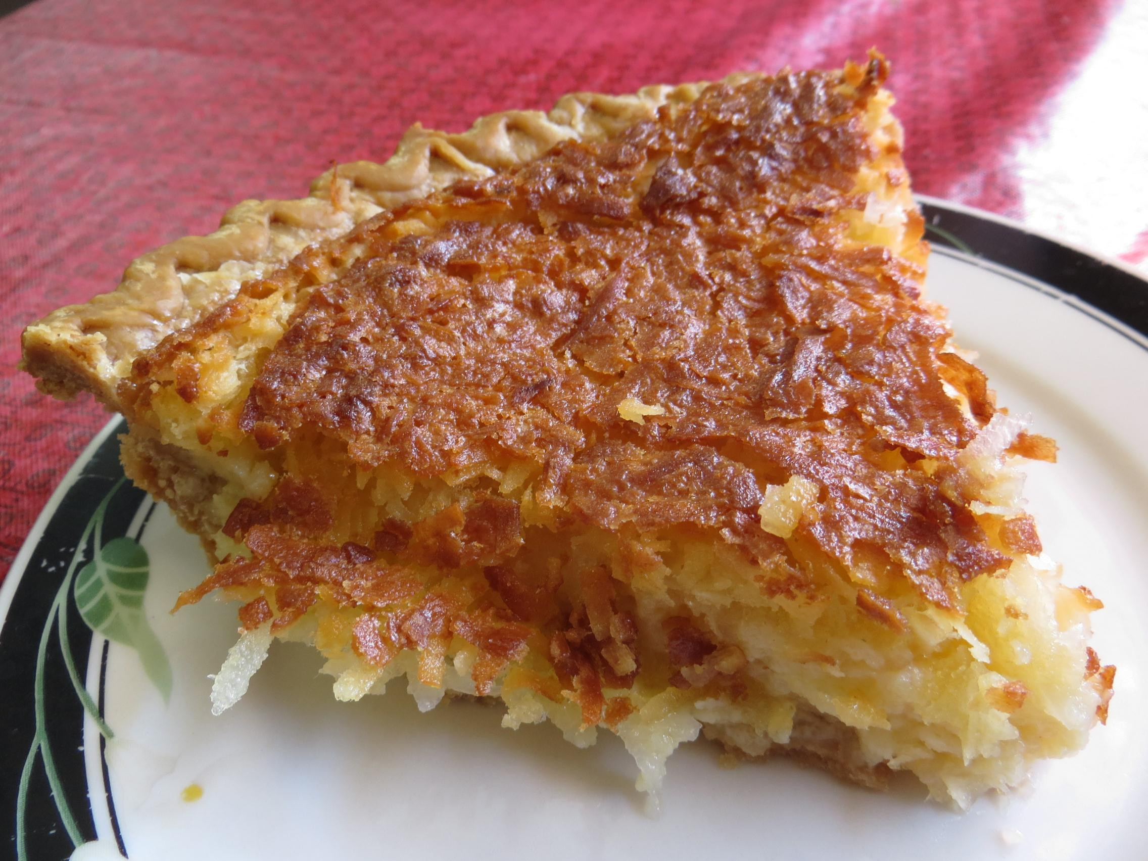 Coconut Pie Recipes  coconut custard pie near me