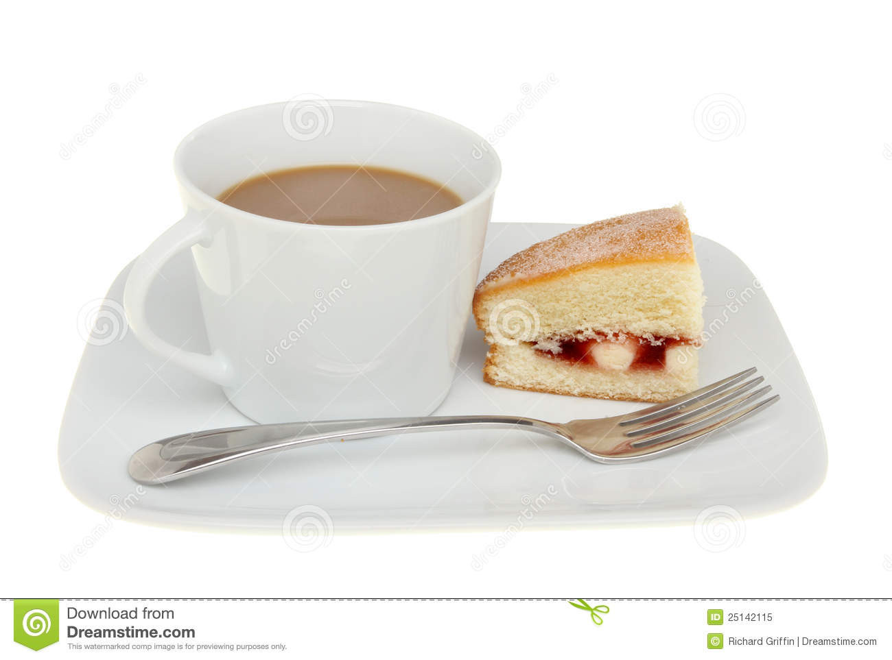 Coffee And Cake  Coffee and cake stock image Image of sandwich raspberry