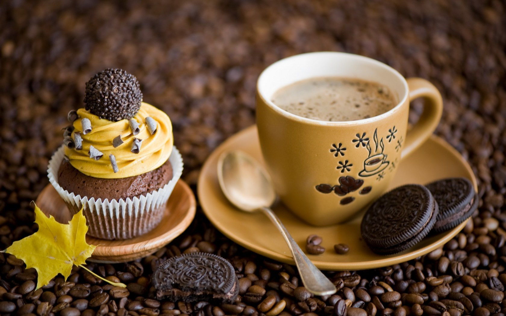 Coffee And Cake  Cute Coffee Beans wallpaper