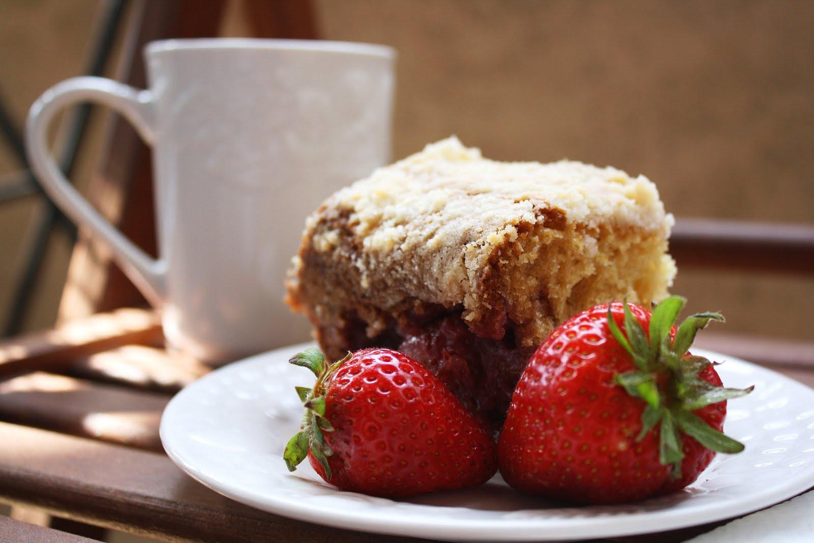 Coffee And Cake  Strawberry Coffee Cake