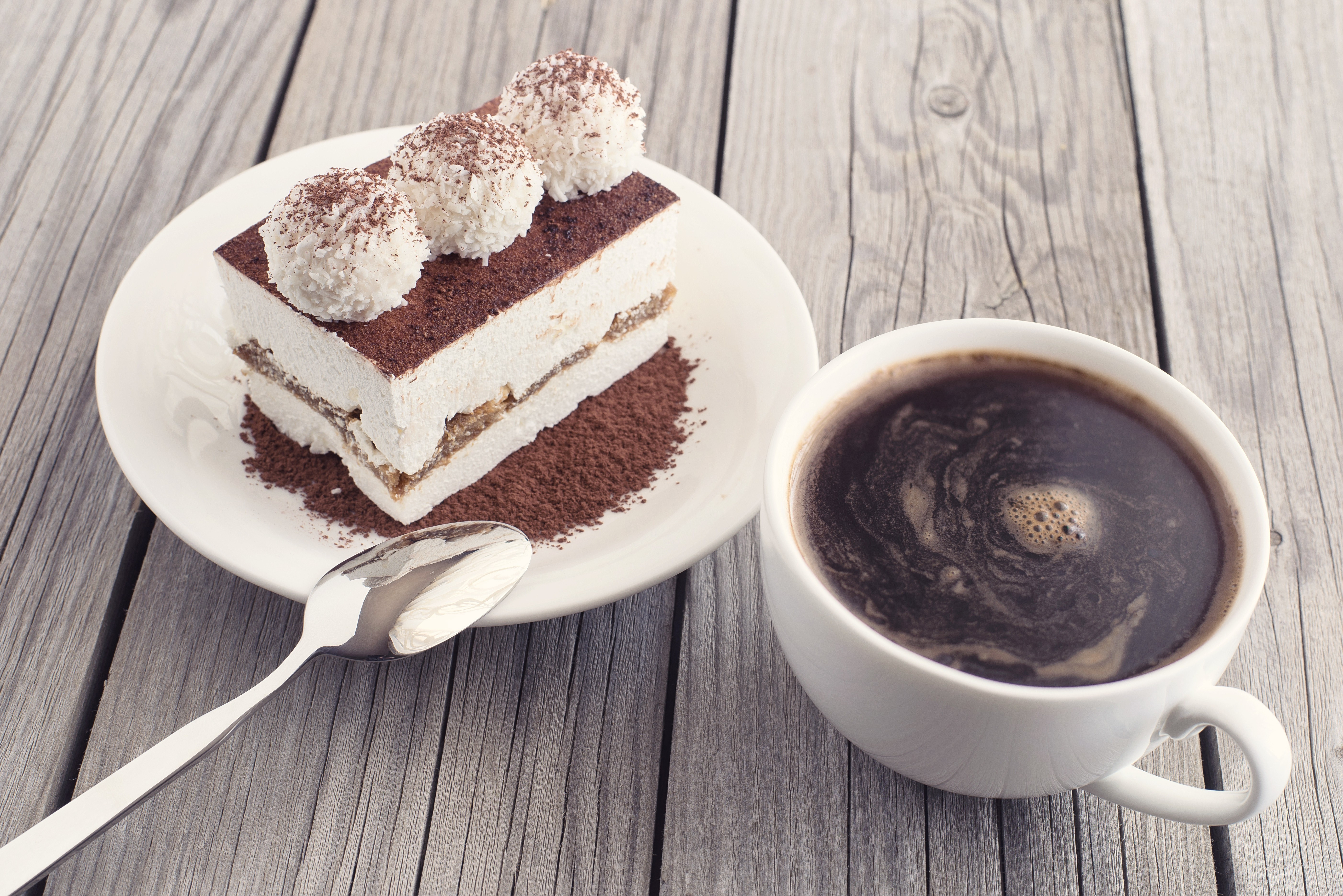 Coffee And Cake  Coffee and cake as a morning meal Tasty food background