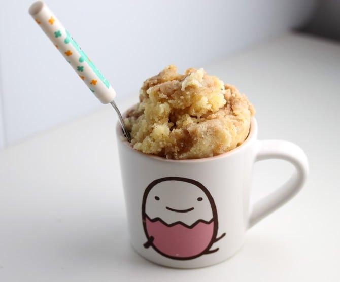 Coffee Cake In A Mug  30 Mug Recipes Amazing Desserts in the Microwave No 2