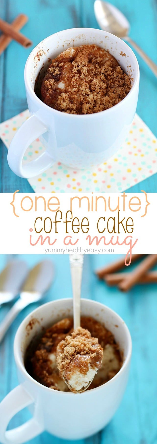 Coffee Cake In A Mug  e Minute Coffee Cake in a Mug Yummy Healthy Easy