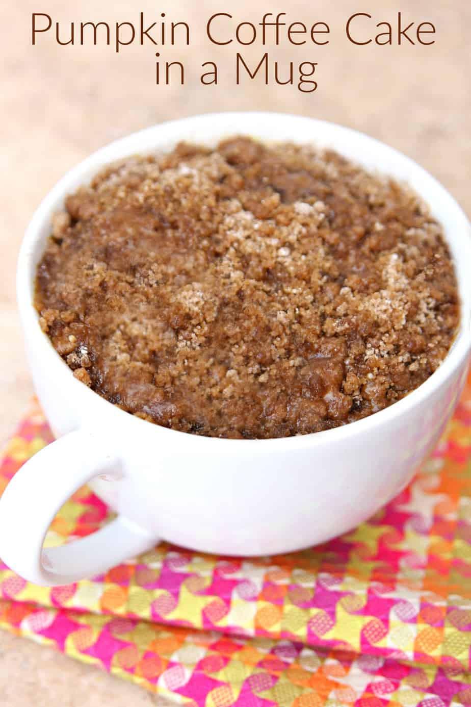 Coffee Cake In A Mug  Pumpkin Coffee Cake in a Mug