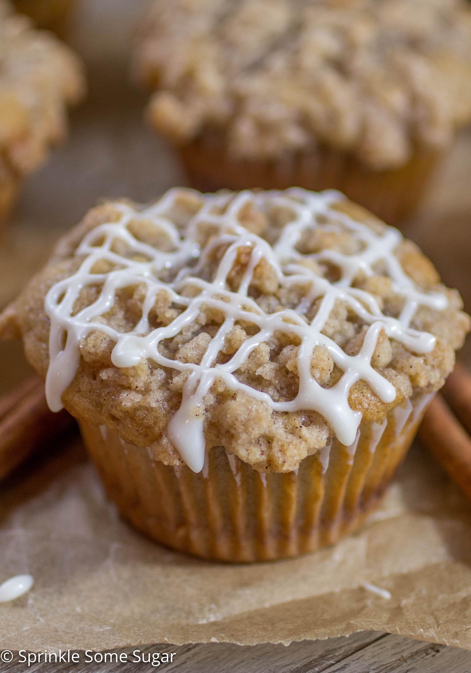 Coffee Cake Muffins  Cinnamon Swirl Coffee Cake Muffins Sprinkle Some Sugar