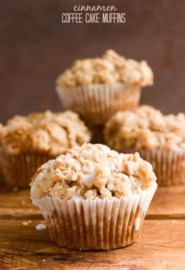 Coffee Cake Muffins  Cinnamon Coffee Cake Muffins Recipe Card Crunchy Creamy