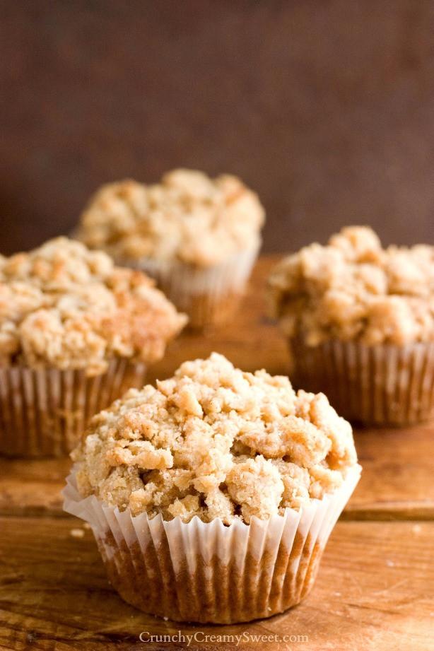 Coffee Cake Muffins  Cinnamon Coffee Cake Muffins Recipe Crunchy Creamy Sweet