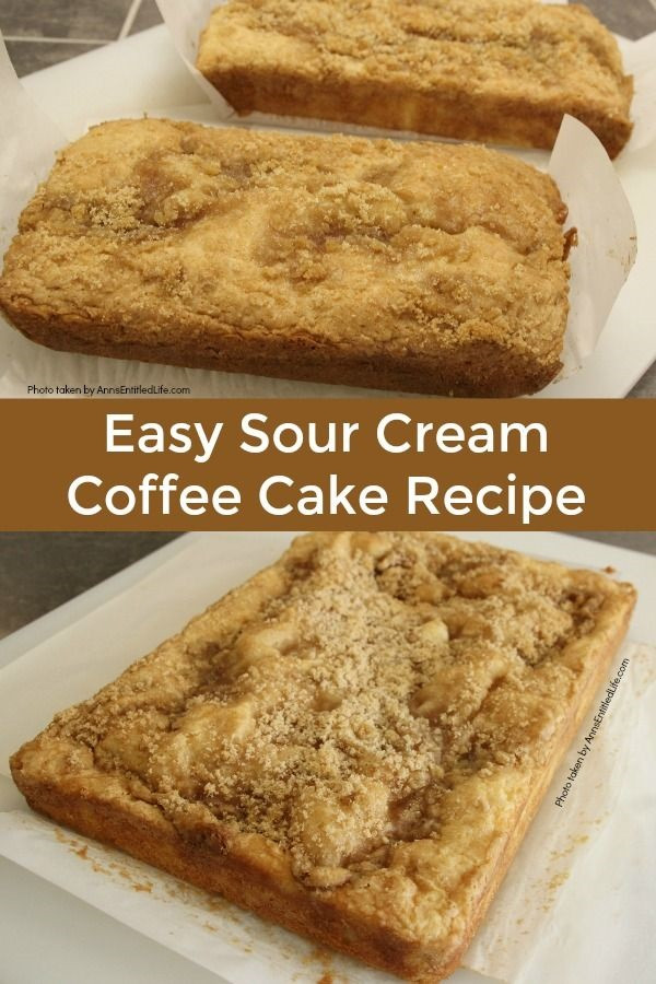 Coffee Cake Recipe Easy  Easy Sour Cream Coffee Cake Recipe