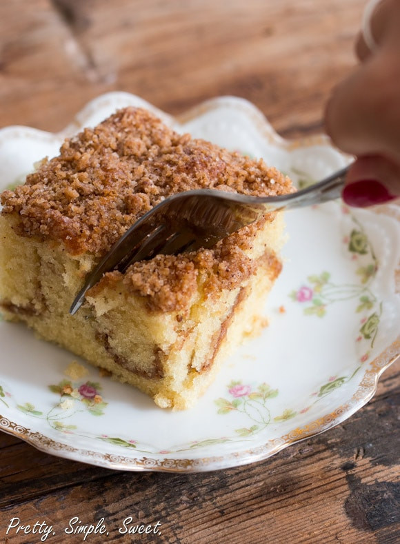 Coffee Cake Recipe Easy  Cinnamon Streusel Coffee Cake
