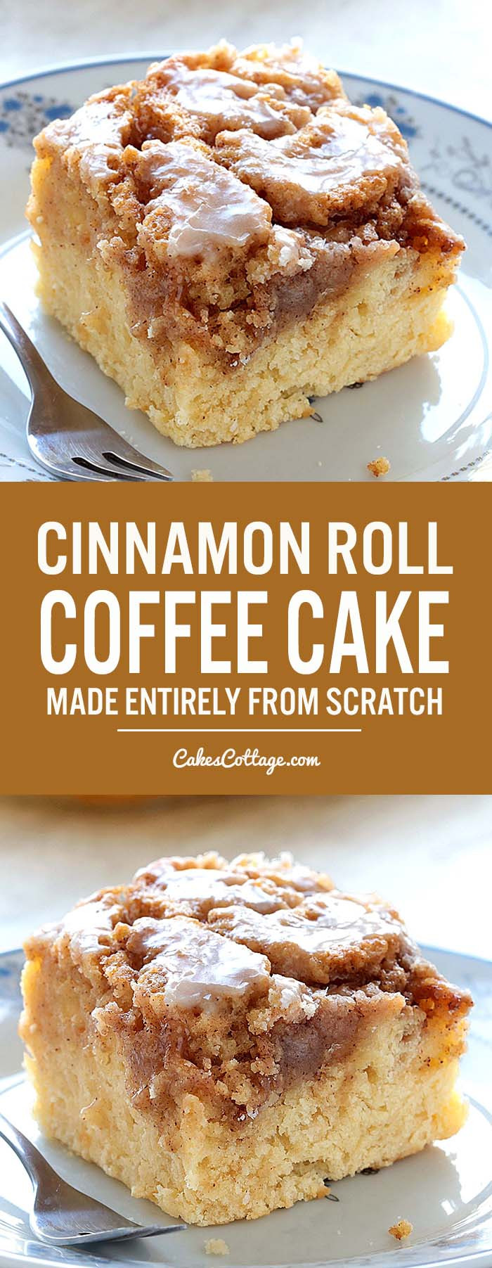 Coffee Cake Recipe Easy  Easy Cinnamon Roll Coffee Cake Cakescottage