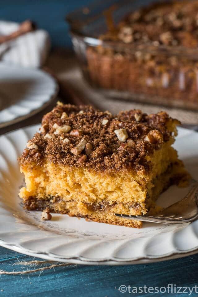 Coffee Cake Recipe  Butterscotch Coffee Cake with Brown Sugar Pecan Streusel