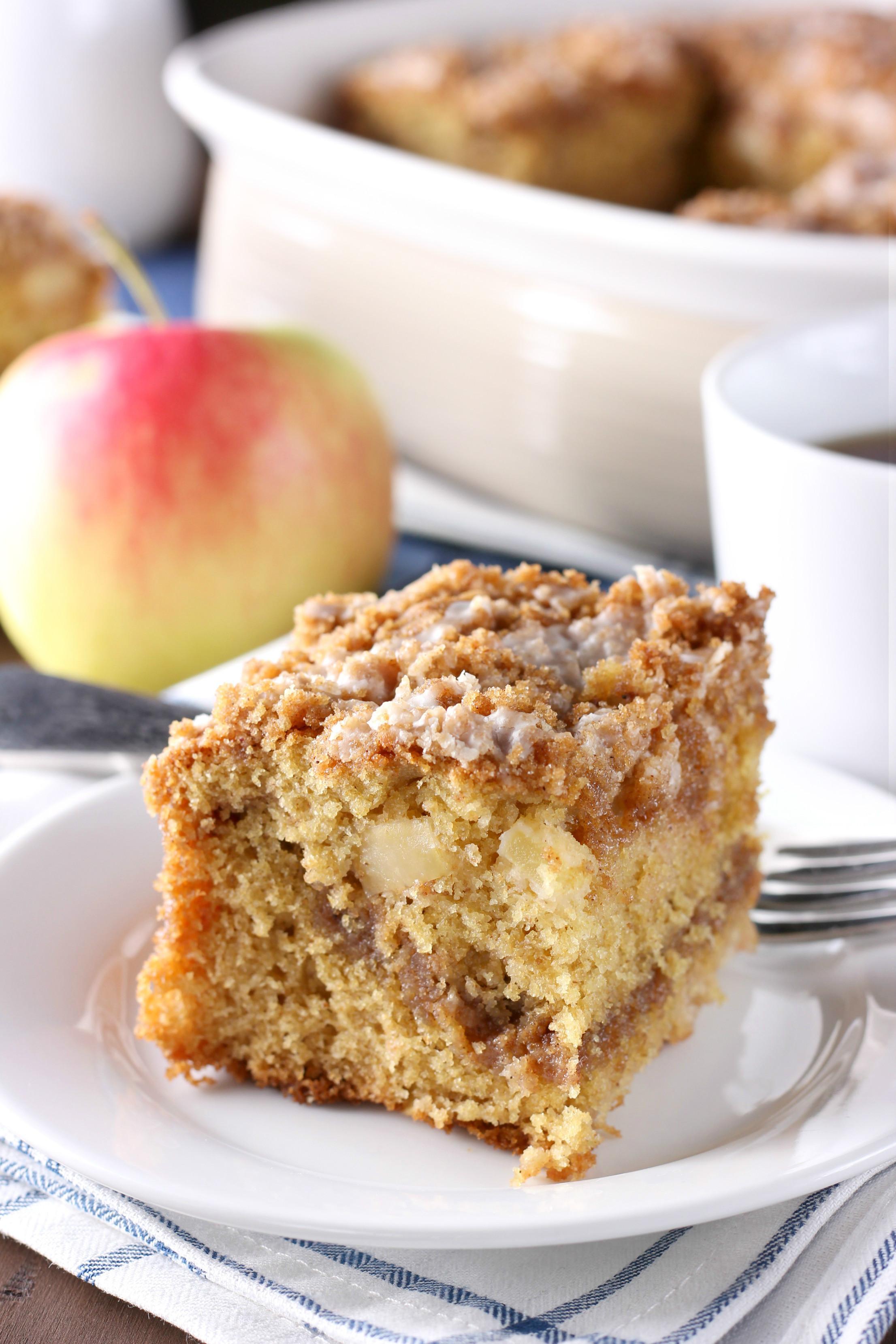 Coffee Cake Recipes  Cinnamon Swirl Apple Coffee Cake Whole Wheat A Kitchen