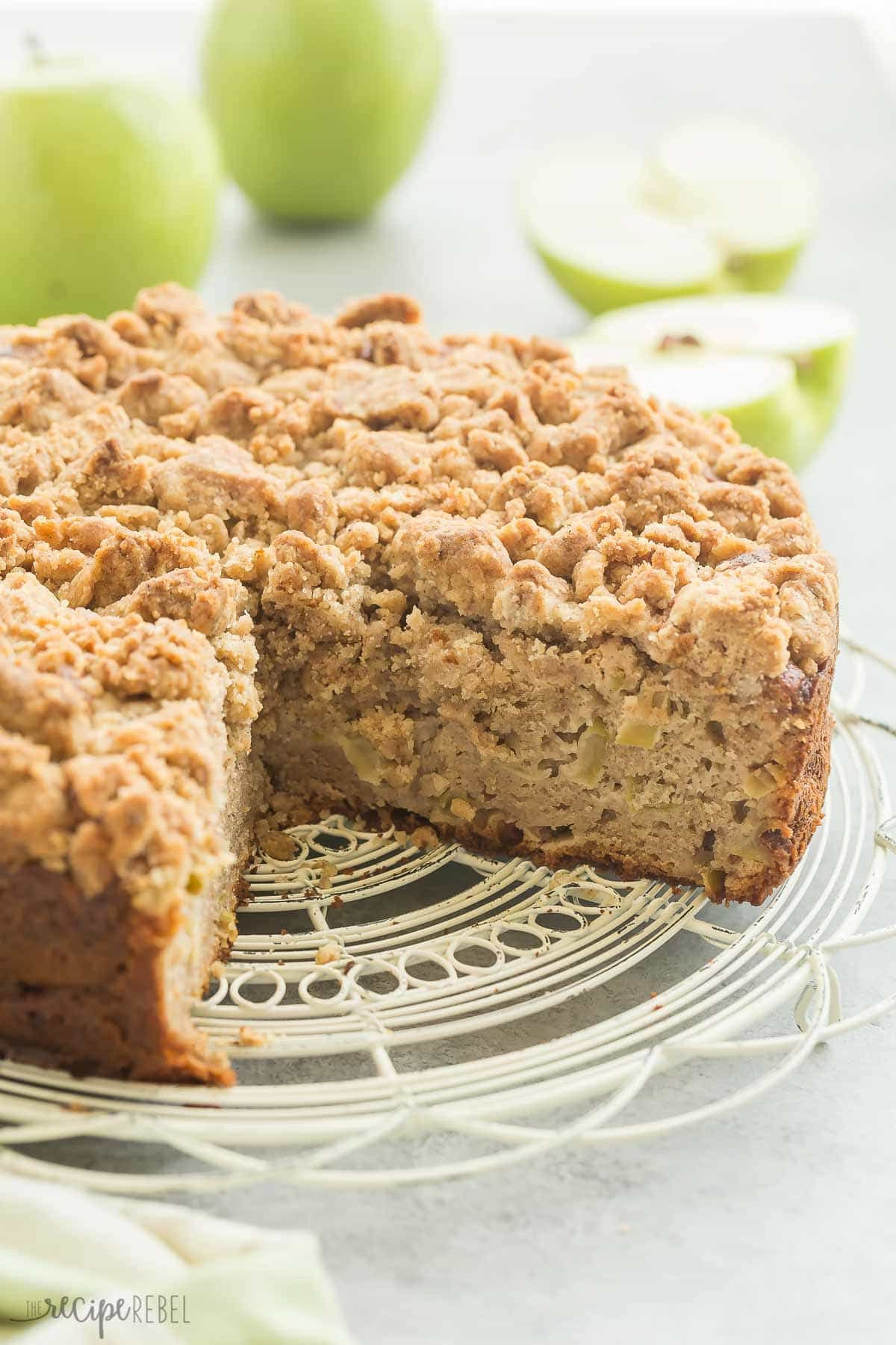 Coffee Cake Topping  Apple Coffee Cake with Crumb Topping Recipe