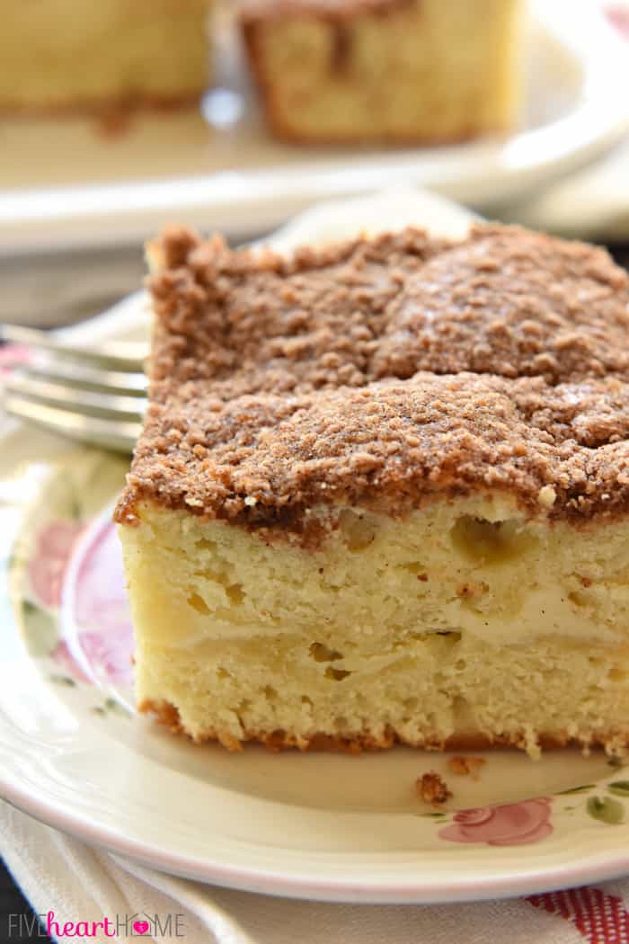 Coffee Cake Topping  Cream Cheese Coffee Cake with Cinnamon Streusel Topping