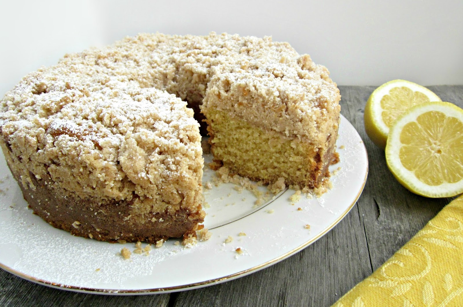Coffee Cake Topping  Hungry Couple Lemon Coffee Cake with Crumb Topping