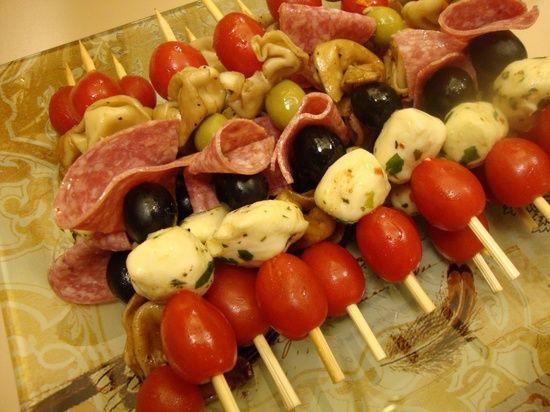 Cold Italian Appetizers  Best 25 Appetizer skewers ideas on Pinterest