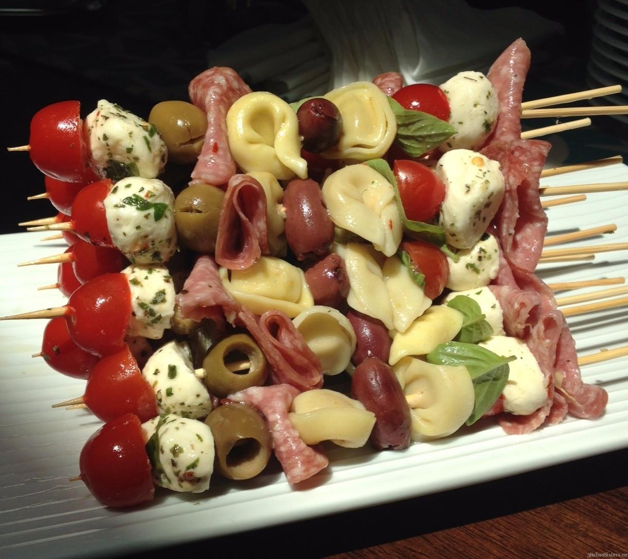 Cold Italian Appetizers  Easy Antipasto Skewers