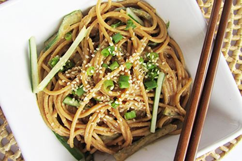 Cold Noodles With Sesame Sauce  Cold Noodles With Peanut Sauce Recipe — Dishmaps