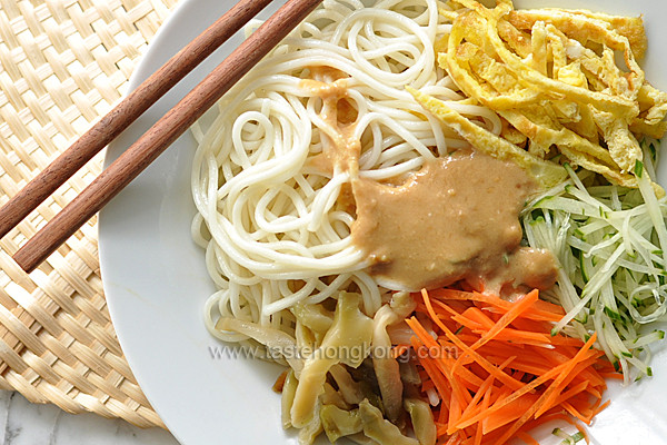 Cold Noodles With Sesame Sauce  Cold Noodles with Sesame Dressing Chinese Style